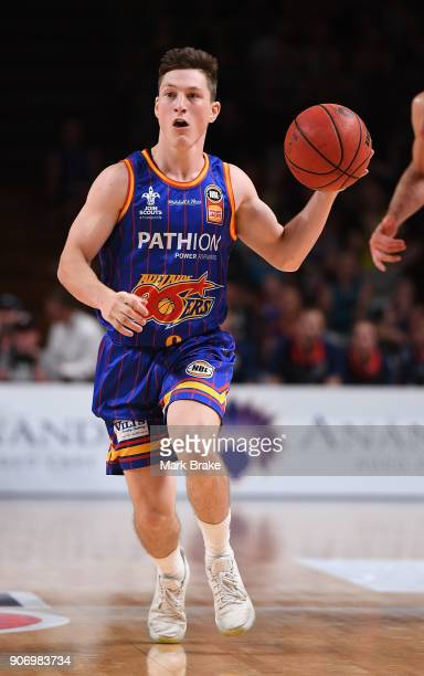 Nelson Larkins of the Adelaide 36ers during the round 15 NBL match between the Adelaide 36ers and the Illawarra Hawks at Titanium Security Arena on...