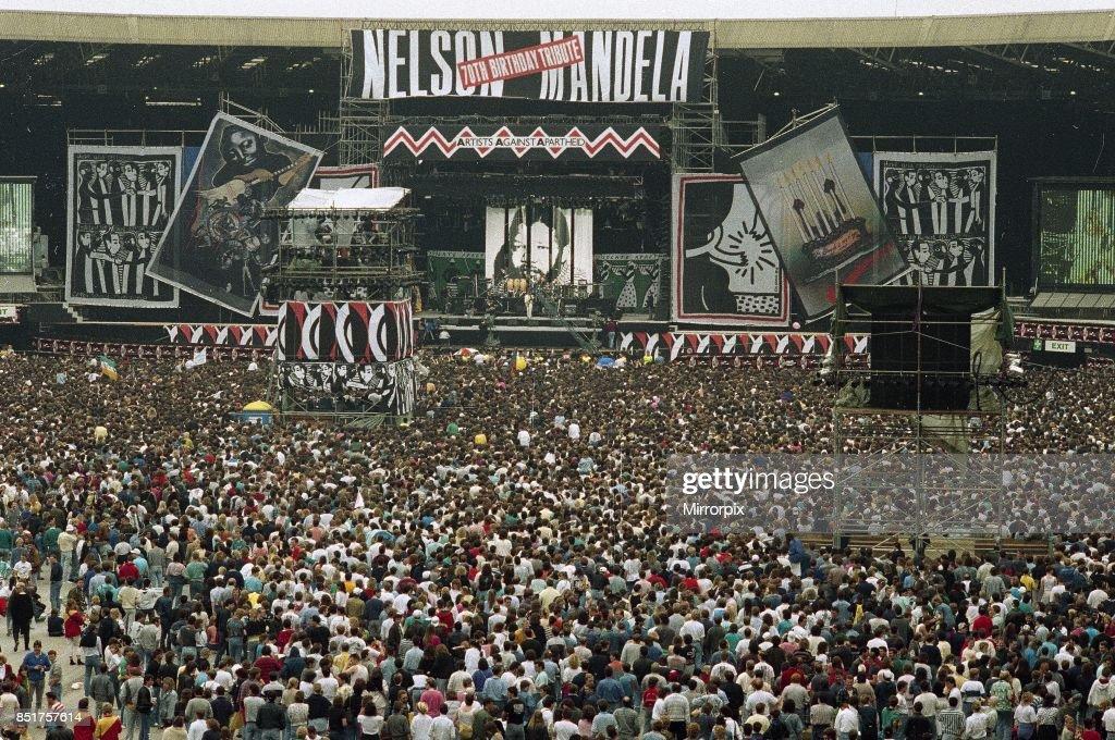 free nelson mandela concert wembley stadium