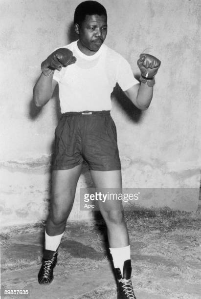 Nelson Mandela activist against Apartheid here when boxer in his youth in the early 50's