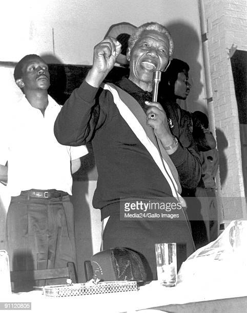 Nelson Mandela addressing the congregation at an NG church in Tladi Soweto