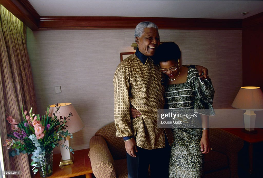 Nelson Mandela and Graca Machel enjoying a moment in their stateroom on the Queen Elizabeth 2 ocean liner. Former President of South Africa and longtime political prisoner, Nelson Mandela, was held by the apartheid based government from 1964-1990 for sabotage. With the coming of a freer political climate, Nelson Mandela was released from his life sentence at Victor Vester Prison on February 11, of 1990. He went on to lead the African National Congress in negotiations with President F. W. de Klerk, that resulted in the end of apartheid and full citizenship for all South Africans. He and de Klerk received a joint Nobel Prize in 1993 for their efforts. Mandela was elected president in 1994.