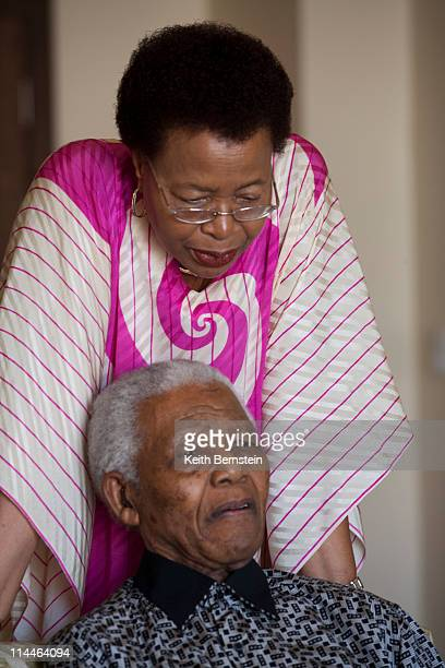 Nelson Mandela and wife Graca Machel Cape Town South Africa April 2009