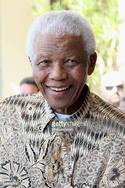 Nelson Mandela arrives at the new OneOnly Cape Town resort on April 2 2009 in Cape Town South Africa Today is the Grand Opening of Sol Kerzner's...