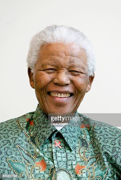 """Nelson Mandela attends a photocall ahead of tonight's """"46664 Arctic"""" concert, at the Rica Hotel on June 11, 2005 in Tromso, Norway. The fourth..."""