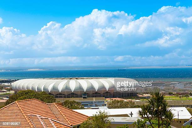 nelson mandela bay stadium in port elizabeth - port elizabeth südafrika stock-fotos und bilder