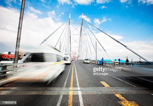 Nelson Mandela bridge in Braamfontein, Johannesburg, Gauteng Province, South Africa