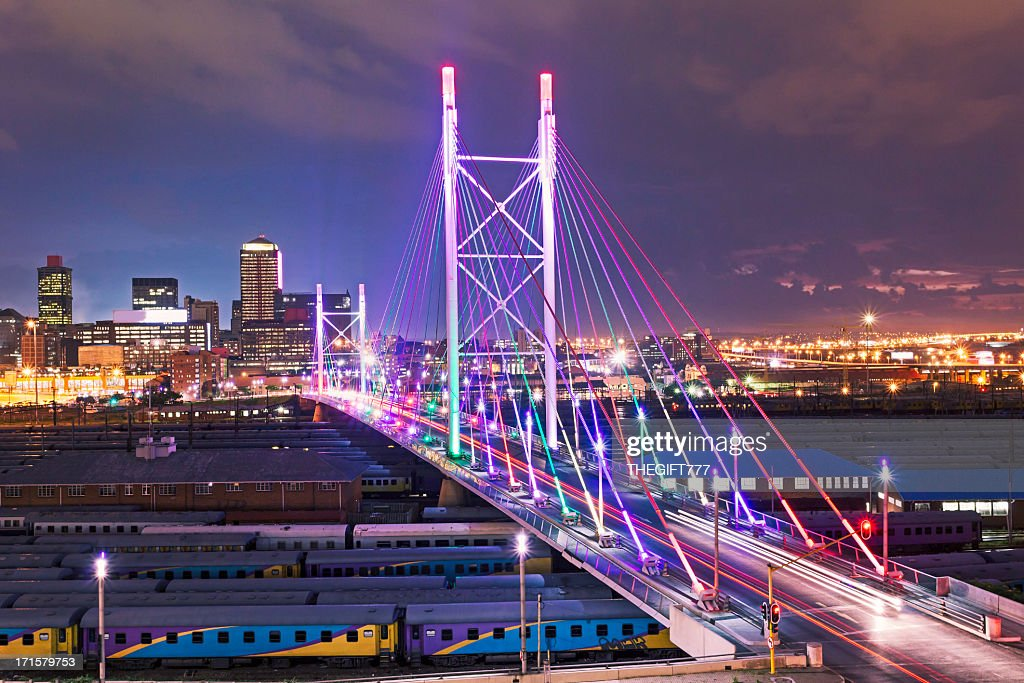Nelson Mandela Bridge Sunset Stock Photo | Getty Images