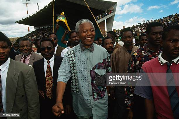 Nelson Mandela Campaigns in Transvaal for First Free Presidential Election