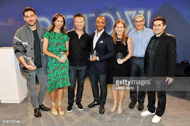 Nelson Mandela Changemaker Award recipients Bryn Mooser Christy Turlington PTTOW cofounder/CEO Roman Tsunder PierreRichard Prosper CEO of RED Deborah...