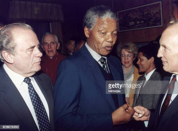 Nelson Mandela deputy Leader African National Congress visits London UK for the first time since his release Sunday 15th April 1990