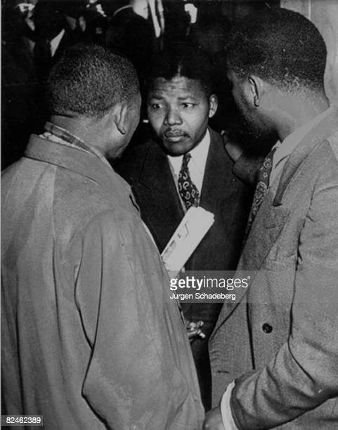 Nelson Mandela deputy national president of the ANC at a trial during the Defiance Campaign Johannesburg 1952