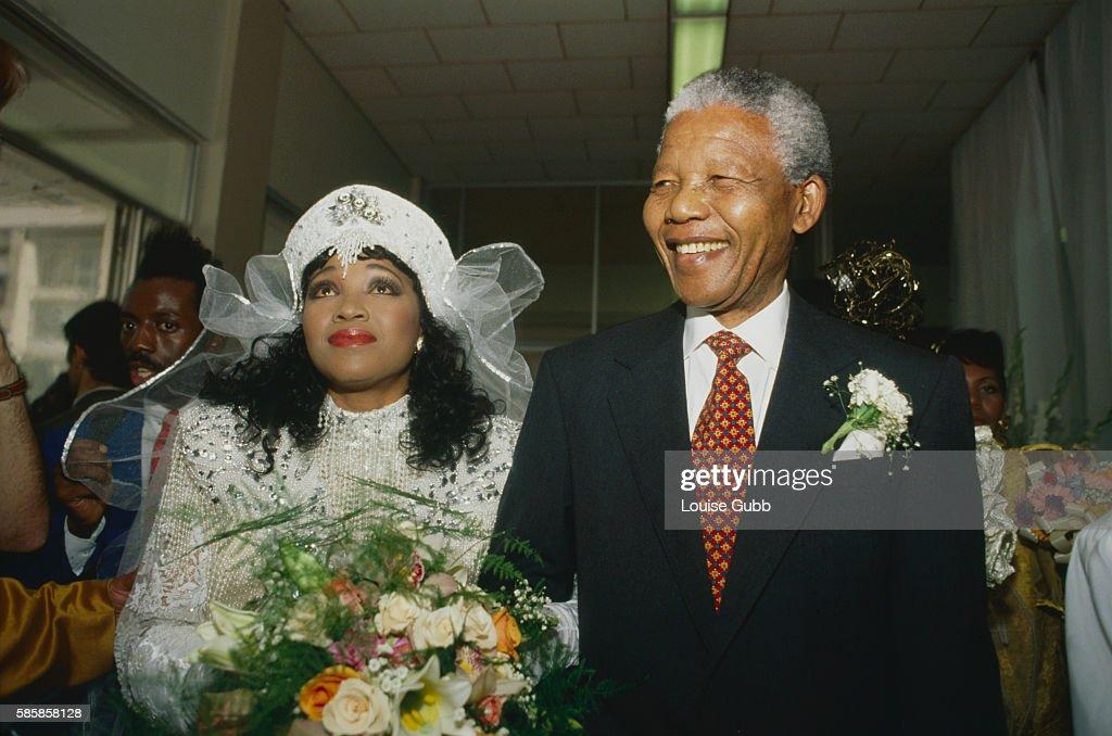 Nelson Mandela Escorts His Daughter Zenzekile Zinzi On Her Wedding Day Former