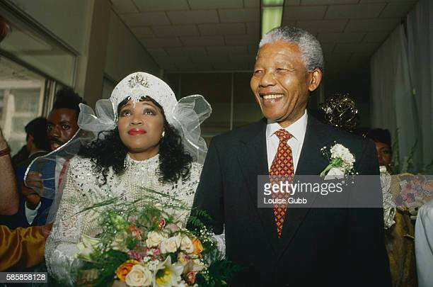 Nelson Mandela escorts his daughter Zenzekile 'Zinzi' Mandela on her wedding day Former President of South Africa and longtime political prisoner...