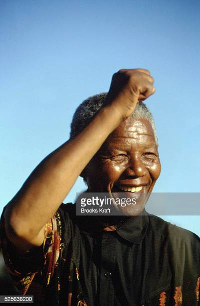 Nelson Mandela greets supports at a campaign stop After more then 27 years in jail as an antiapartheid activist Nelson Mandela lead a 1994 campaign...
