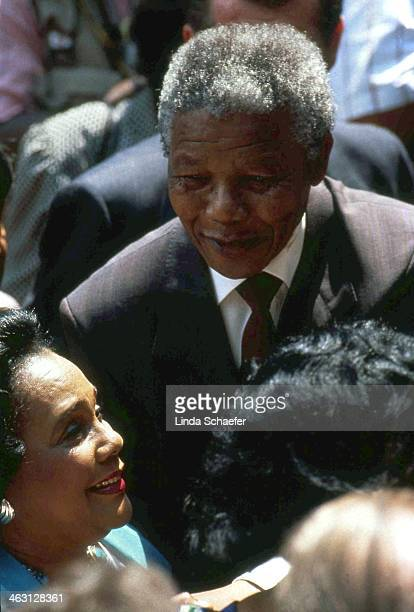 Nelson Mandela greets the crowds in Atlanta when he arrives at the Martin Luther King Jr. Center. After hours of anticipation for this encounter,...
