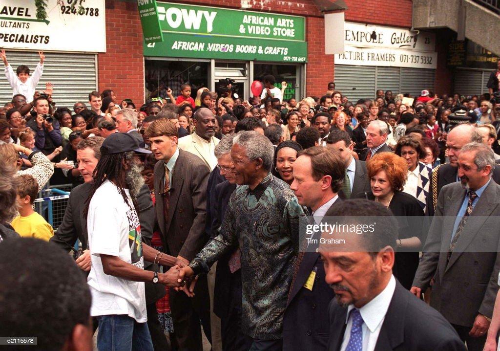 President Mandela In Brixton : News Photo