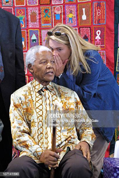 Nelson Mandela liaising with his PA Zelda le Grange in Qunu his birthplace and the location of his retirement home