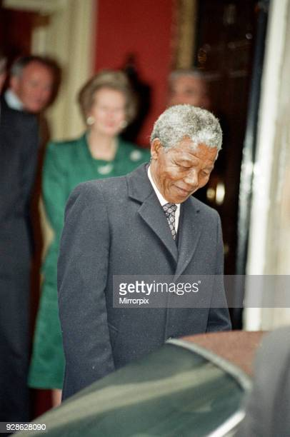 Nelson Mandela meets Margret Thatcher at No10 Downing Street July 4 1990