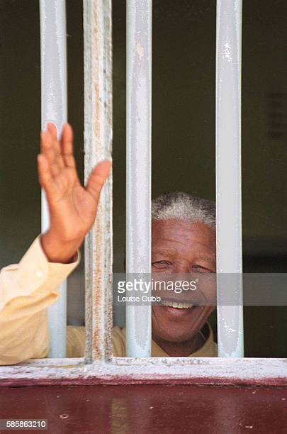 Nelson Mandela revisited the cell at Robben Island prison in 1994, where he was jailed for more than two decades. Currently, his optimistically...