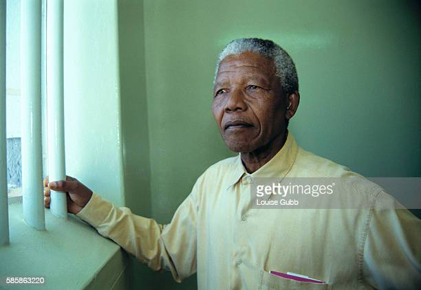 Nelson Mandela revisited the cell at Robben Island prison where he was jailed for more than two decades Currently his optimistically brightly colored...