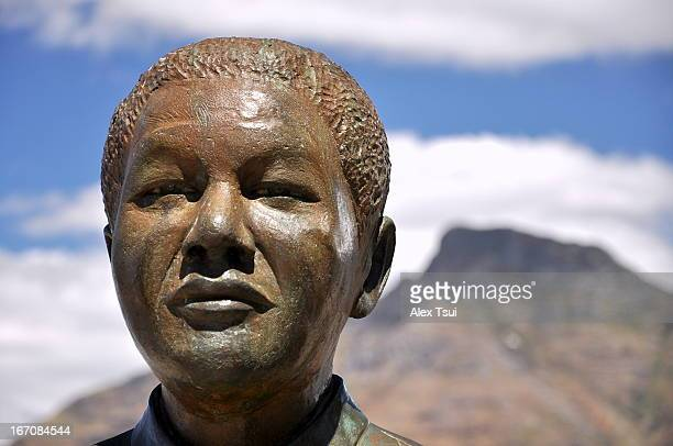 CONTENT] Nelson Mandela Statue Nobel Square Victoria Alfred Waterfront Cape Town South Africa
