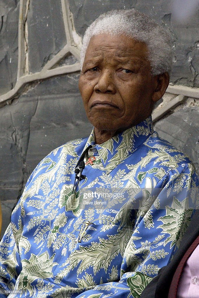 Nelson Mandela, The Stars Of Rock And Roll Join Forces For Nelson Mandela's 46664 Concert In Cape Town, South Africa. In The Pre, Concert Build Up The Artists And Mr Mandela Travelled To The Prison On Robben Island, Where Mr Mandela Was Imprisoned For 27