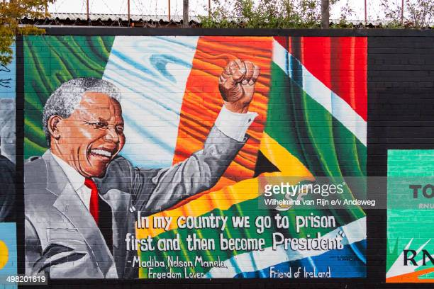 CONTENT] Nelson Mandela wall mural Lower Falls Road Belfast Northern Ireland United Kingdom