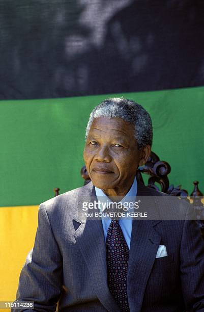 Nelson Mandela's liberation in South Africa on February 11, 1990 - Nelson Mandela at Desmond Tutu's residence in Cape Town.