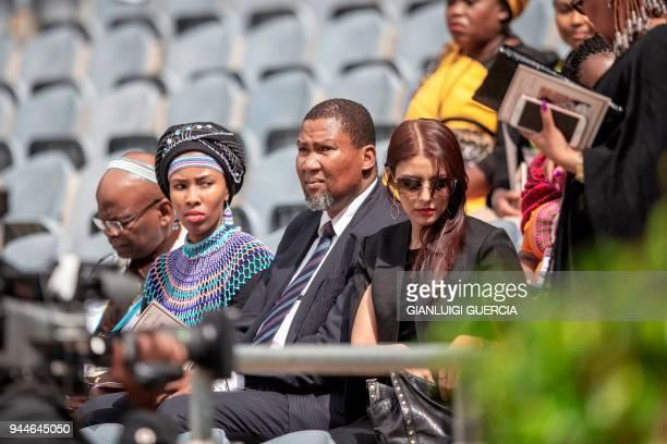 Nelson Manndela's grandson Mandla Mandela attends a memorial service for late South African antiapartheid campaigner Winnie MadikizelaMandela exwife...