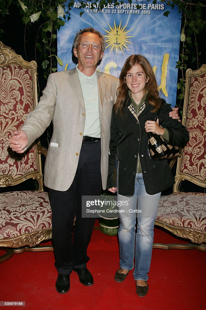 Nelson Montfort with his daughter Isaure.