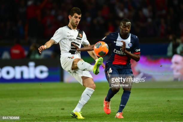 Nelson OLIVEIRA / Blaise MATUIDI Paris Saint Germain / Rennes 36eme journee de Ligue 1 Photo Dave Winter / Icon Sport