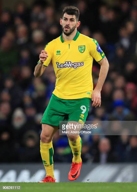 Nelson Oliveira of Norwich City during the Emirates FA Cup Third Round Replay match between Chelsea and Norwich City at Stamford Bridge on January 17...