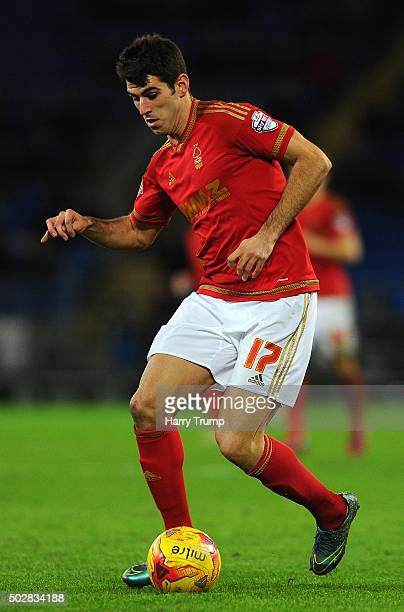 Nelson Oliveira of Nottingham Forest during the Sky Bet Championship match between Cardiff City and Nottingham Forest at the Cardiff City Stadium on...
