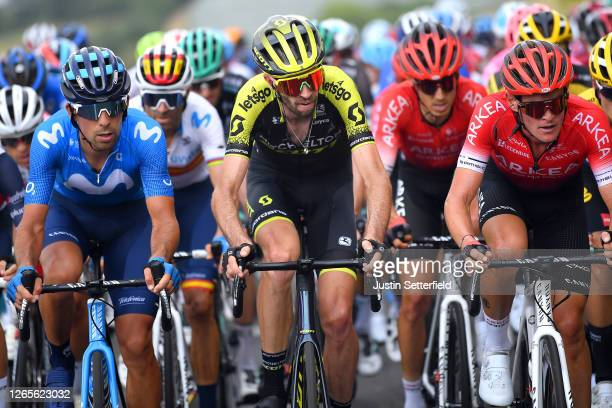 Nelson Oliveira of Portugal and Movistar Team / Alejandro Valverde Belmonte of Spain and Movistar Team / Damien Howson of Australia and Team...