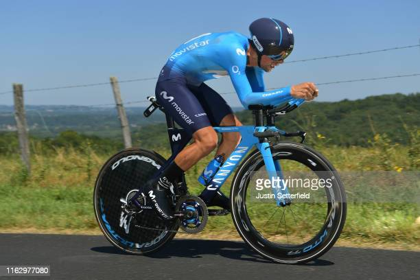 Nelson Oliveira of Portugal and Movistar Team / during the 106th Tour de France 2019 - Stage 13 a 27,2km Individual Time Trial Stage from Pau to Pau...