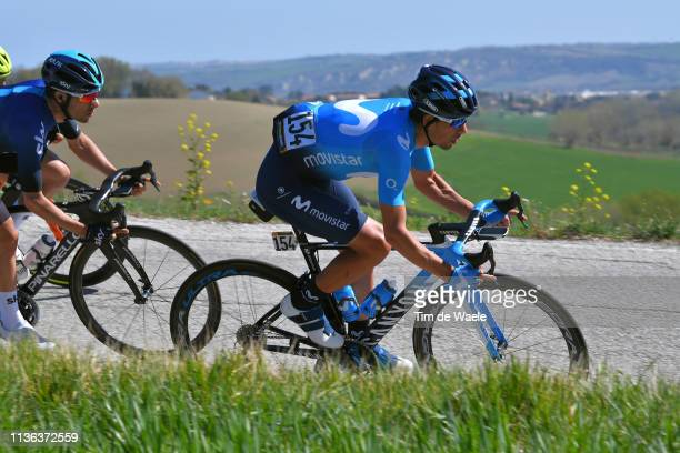 Nelson Oliveira of Portugal and Movistar Team / during the 54th Tirreno-Adriatico 2019, Stage 5 a 180km stage from Colli al Metauro to Recanati 293m...