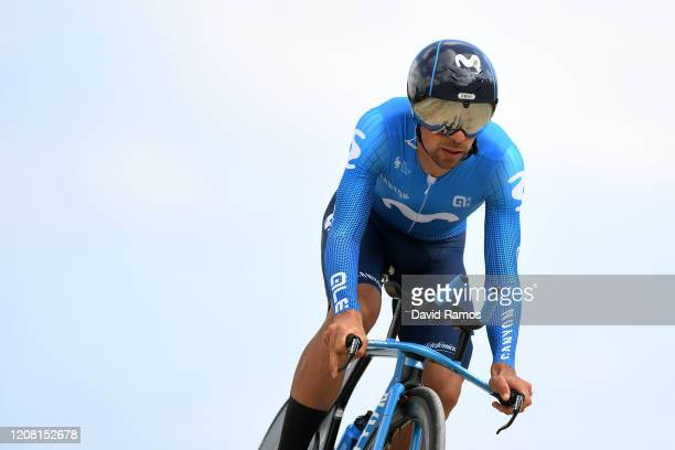 Nelson Oliveira of Portugal and Movistar Team / during the 66th Vuelta a Andalucía - Ruta del Sol 2020, Stage 5 a 13km Individual Time Trial from...