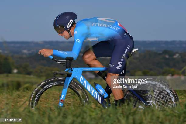 Nelson Oliveira of Portugal and Movistar Team / during the 74th Tour of Spain 2019, Stage 10 a 36,2 Individual Time Trial stage from Jurançon to Pau...