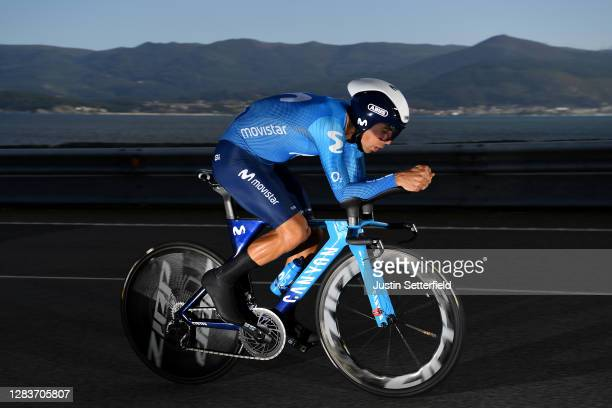 Nelson Oliveira of Portugal and Movistar Team / during the 75th Tour of Spain 2020, Stage 13 a 33,7km Individual Time Trial stage from Muros to...