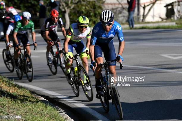 Nelson Oliveira of Portugal and Movistar Team & Jan Bakelants of Belgium and Team Intermarché - Wanty - Gobert Matériaux during the 56th...