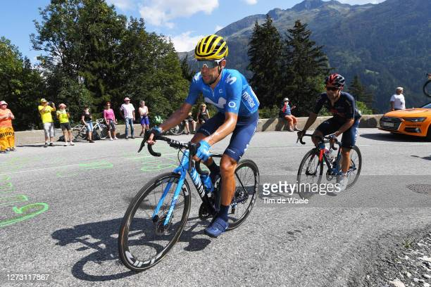Nelson Oliveira of Portugal and Movistar Team / Jonathan Castroviejo of Spain and Team INEOS Grenadiers / during the 107th Tour de France 2020, Stage...