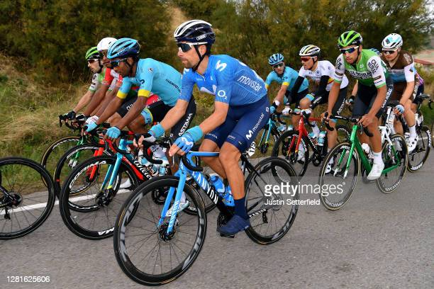 Nelson Oliveira of Portugal and Movistar Team / Merhawi Kudus Ghebremedhin of Eritrea and Astana Pro Team / Harry Tanfield of The United Kingdom and...