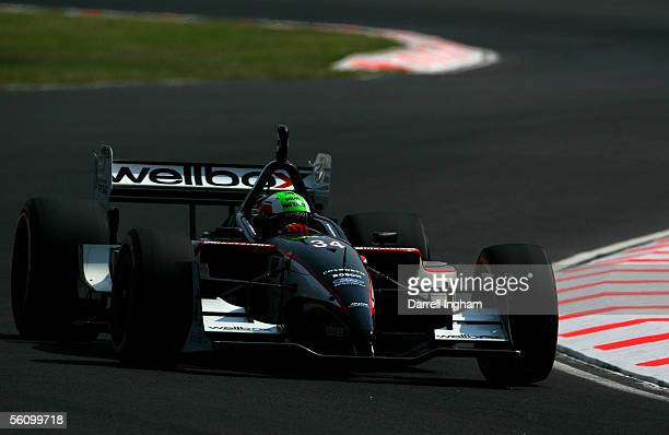 Nelson Philippe driver of the MiJack Conquest Racing Lola Ford Cosworth during practice for the ChampCar World Series Gran Premio TelmexTecate on...
