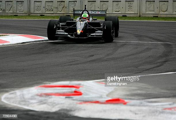 Nelson Philippe drives the CTE Racing HVM Lola Cosworth during practice for the ChampCar World Series Gran Premio Telmex on November 10 2006 at the...