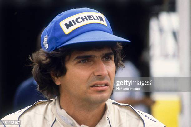 Nelson Piquet at the British Grand Prix, Silverstone, Northamptonshire, 1983. Piquet finished second. After making his Formula 1 debut in 1978,...