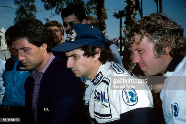 Nelson Piquet Charlie Whiting Grand Prix of the United States West Grand Prix of Long Beach 04 April 1982 Nelson Piquet with Brabham mechanic Charlie...