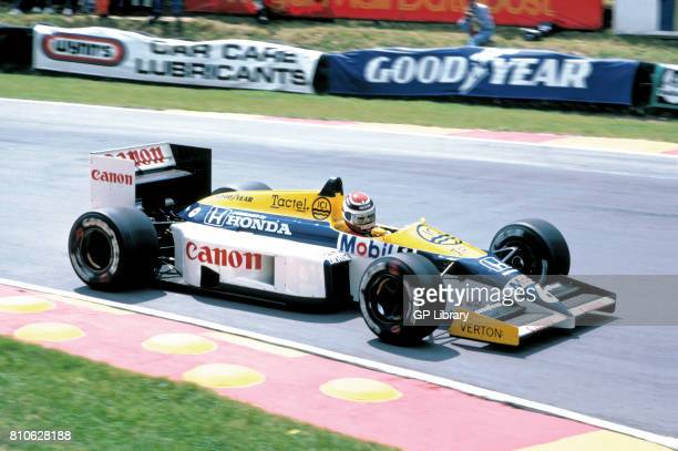 Nelson Piquet driving a Williams FW11 at Brands Hatch British GP 2nd