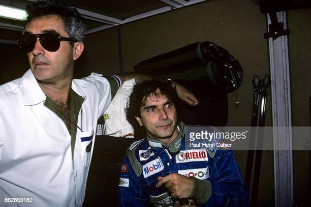 Nelson Piquet Flavio Briatore Grand Prix of Monaco Circuit de Monaco 27 May 1990 Nelson Piquet with Benetton team manager Flavio Briatore