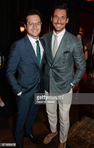 Nelson Piquet Jr and David Gandy attend the GQ Dinner cohosted by Dylan Jones and Loyle Carner to celebrate London Fashion Week Men's June 2018 at...