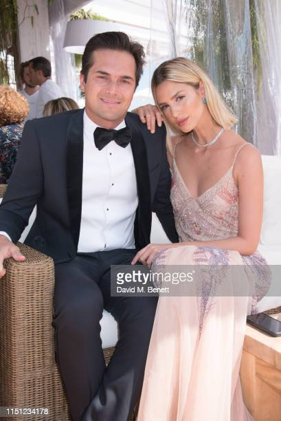 """Nelson Piquet Jr. And Gabriella Borges attend a cocktail party hosted by Alejandro Agag ahead of the World Premiere of the Formula E documentary """"And..."""